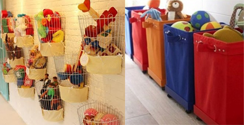 cestas e caixas